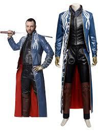 leather jacket halloween costume devil may cry vergil cosplay costume halloween milanoo com