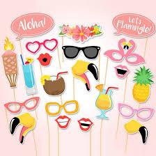 Tropical Party Themes - aliexpress com buy 21 pcs summer flamingo party decorations