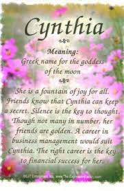 the meaning of the name cynthia angies creations