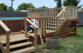 wood decks for above ground pools