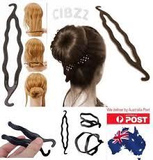 hair bun maker hair donut bun maker former plastic flexi styler twist stick clip