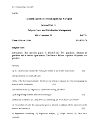 Sales Call Planning Worksheet Sdm Question Paper Test 1 2015 Sales Business