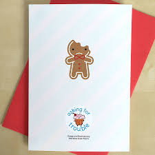 gingerbread man writing paper cookie cute kawaii gingerbread man card by asking for trouble cookie cute kawaii gingerbread man card