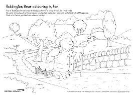 paddington colouring pages coloring page