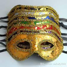 wholesale masquerade masks cheap masquerade mask gold with border mask unisex design