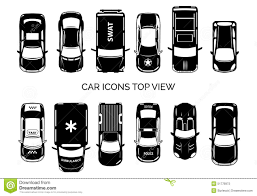 vehicle top view car icons top view stock vector image 51778973
