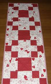 red and white table runner valentines day quilted table runner red white table runner
