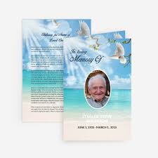 funeral card template dove funeral card funeral phlets