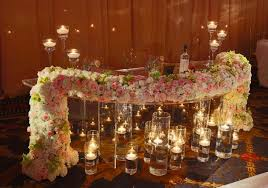 Bride And Groom Table Decoration Ideas Wedding Head Table Floral Decorations Table Flower Arrangements