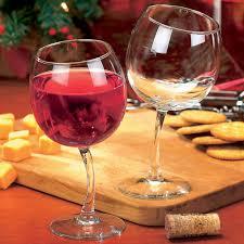 amazon com tipsy wine glasses 12 oz goblets with slightly bent