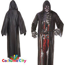 Grim Reaper Halloween Costume Mens Grim Reaper Costume Ebay