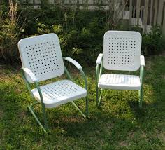 Antique Metal Patio Chairs Vintage Outdoor Furniture With Sweet Scheme Home