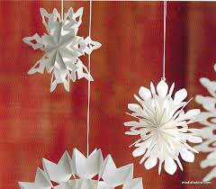 roost paper snowflake ornaments set of 9 modish store
