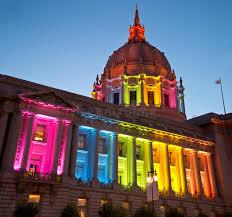 sf city hall lights san francisco city hall in rainbow lights honoring and