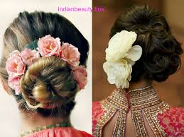 flower hair bun indian bridal bun hairstyles with flowers indian beauty tips