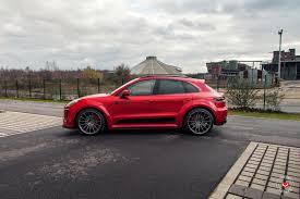 Porsche Macan Red - vossen wheels porsche macan vossen forgedprecision series vps