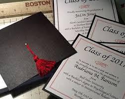 graduation cap invitations college graduation invitations etsy