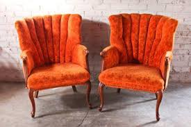 living room burnt orange accent chair recliner home decor chairs