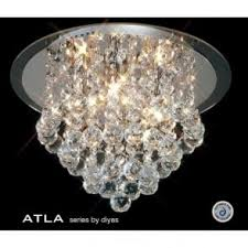 Lead Crystal Chandelier Gold Light Ideal For Low Ceilings Chrystal Chandelier