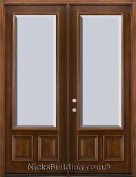 Insulated Patio Doors Full Lite Patio Doors With Clear Beveled Glass