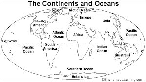 blank continent map geography geography worksheets continents and oceans