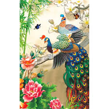 Peacock Home Decor Aliexpress Com Buy Diy Diamond Painting Cross Stitch Animal