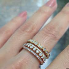 stackable engagement rings wedding rings two wedding bands trend stackable rings with names