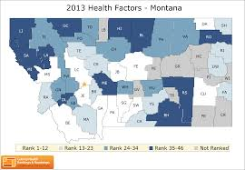 Montana Counties Map by Montana Rankings Data County Health Rankings U0026 Roadmaps