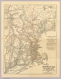 Map New England States by Railway Map New England States David Rumsey Historical Map