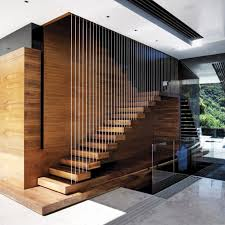 interior glass banister stair safety treads modern stairs