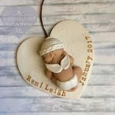 infant loss ornament angel baby memorial ornament stillborn gift by athreadrunsthruit
