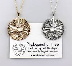 necklace silver etsy images Phylogenetic evolutionary tree necklace gold or silver etsy jpg