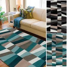 Tufted Area Rug Tufted Geometric Contemporary Area Rug 8