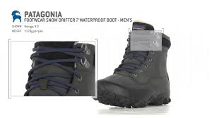 patagonia s boots patagonia footwear drifter 7 waterproof boot s