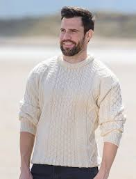 mens wool sweater mens sweater aran sweater market