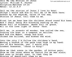 good old hymns tell me the stories of jesus lyrics sheetmusic