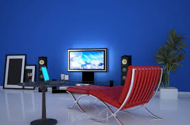 Creative Bedroom Blue Wall Designs Cool Blue Walls In Living Room 88 Concerning Remodel Decorating