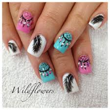 beautiful feather nail designs to blow you away