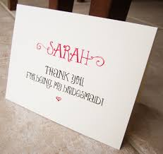 bridesmaid card wording 4 personalized thank you for being my bridesmaid cards