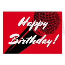 Happy Birthday Wishes For Singer Singer Birthday Cards Invitations Zazzle Co Uk
