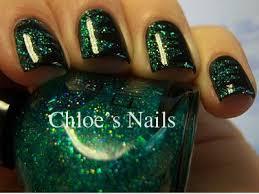 chloes nails green shred black shredded nail art manicure tutorial