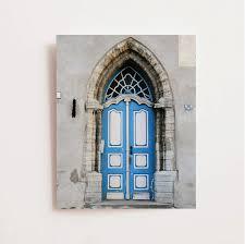 blue door print tallinn estonia photography door photograph