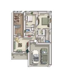 Side Garage Floor Plans by House Plans With Rooms On One Side Arts Bedroom Bath Bonus Master
