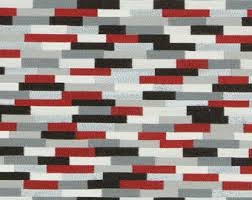 Black And White Check Upholstery Fabric Modern Red White Plaid Upholstery Fabric Large Scale Red