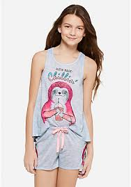 chillin sloth sleep set pajama sloth