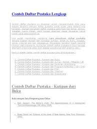 artikel format paper ilmiah contoh daftar pustaka lengkap leisure
