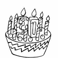30th birthday cake coloring page