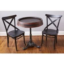 Zinc Top Bistro Table Europe2you French Bistro Table Large