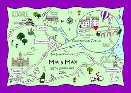 Wedding Invitations Glasgow Cute Maps Unique Wedding Invitations With A Functional Twist