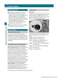 headlamp mercedes benz e class wagon 2012 w212 owner u0027s manual